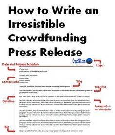 Restaurant Press Release Template by Only You Care Enough About Your Crowdfunding Or