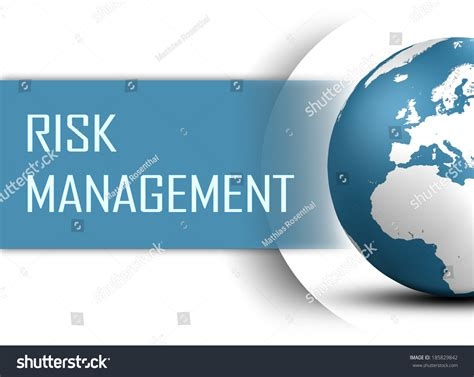 Search Risk Management Risk Management Concept With Globe On White Background