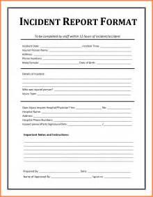 Report Letter Sample 11 Free Sample Of Incident Report Letter Resume Studio