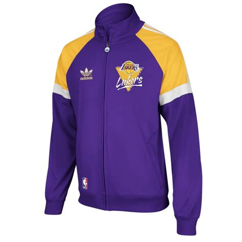 Adidas Los Angeles Superstar Track Jacket White Originals adidas los angeles lakers originals track jacket in for lyst
