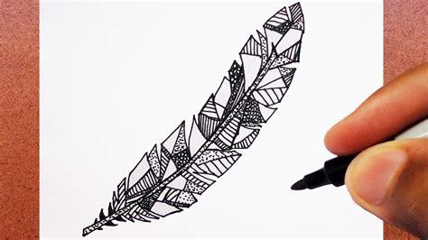como desenhar pena desenho tatuagem youtube