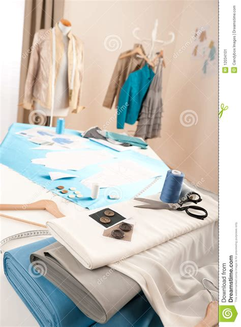 fashion design equipment list fashion designer studio with mannequin stock image image