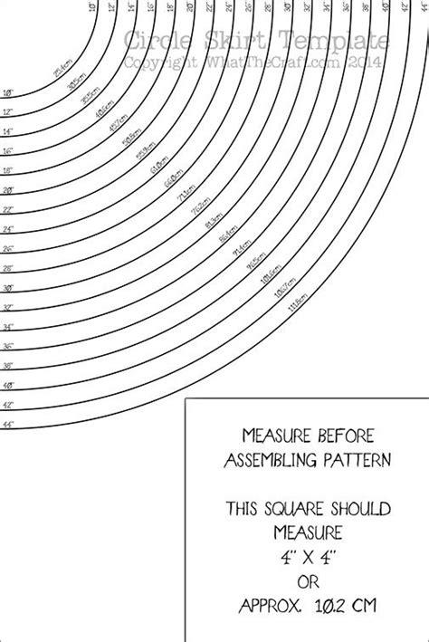 printable toddler skirt pattern circle skirt template printable pdf pattern whatthecraft