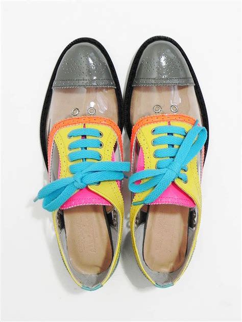 color oxford shoes style pantry clear neon color block oxfords