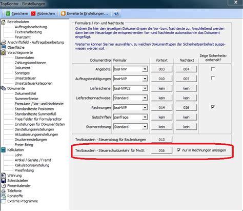 Muster Rechnung 13b Ustg Mit Topkontor Handwerk Nettorechnungen Gem 167 13b Ustg Erstellen