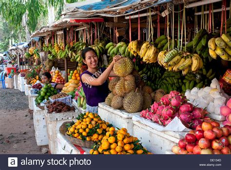 fruit vendor fruit vendor fruit stand market siem reap cambodia