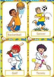 Flashcards Nouns English Teaching Worksheets Sports Flashcards