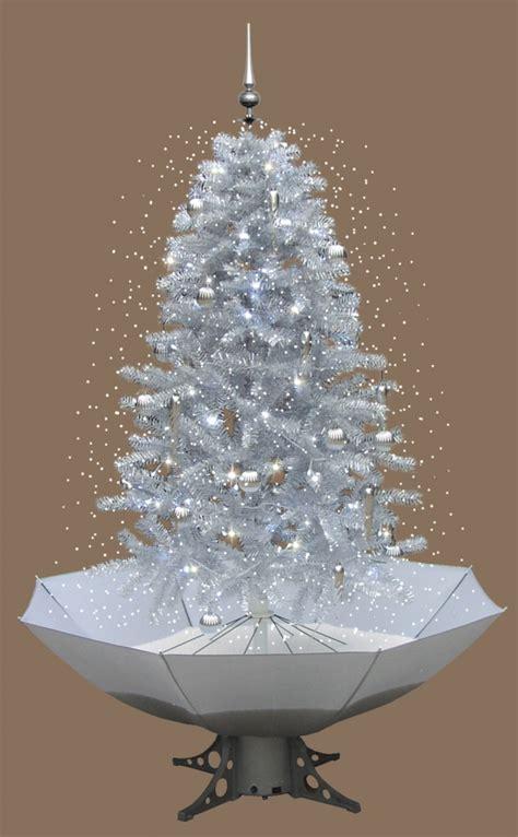 weihnachtsbaum schneefall mit led licht musik 2 m weiss ebay