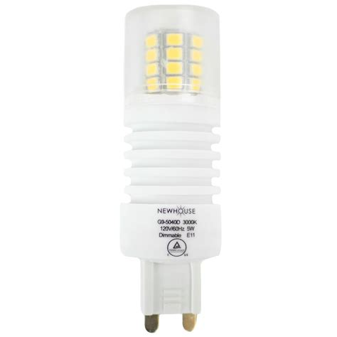 G9 Led Light Bulbs Newhouse Lighting 40w Equivalent Soft White G9 Dimmable Led Light Bulb G9 5040ds The Home Depot