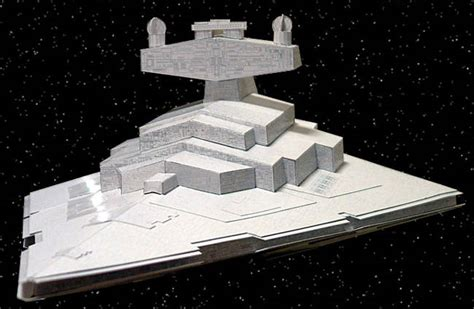 Papercraft Destroyer - wars imperial i class destroyer free paper