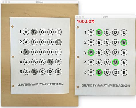 Grading Machine bubble sheet multiple choice scanner and test grader using