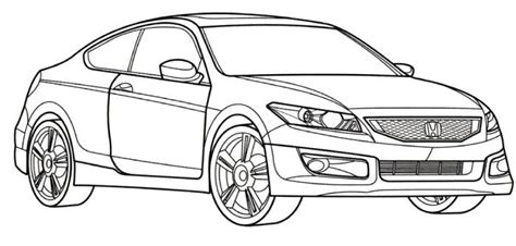 coloring pages honda cars honda accord coloring pages