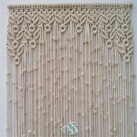 Hemp Curtain Panels From Doc by Cortina Macram 233 Modelo Hojas Y Redondel Puedes Ver En La