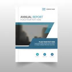 annual report template with blue details vector free