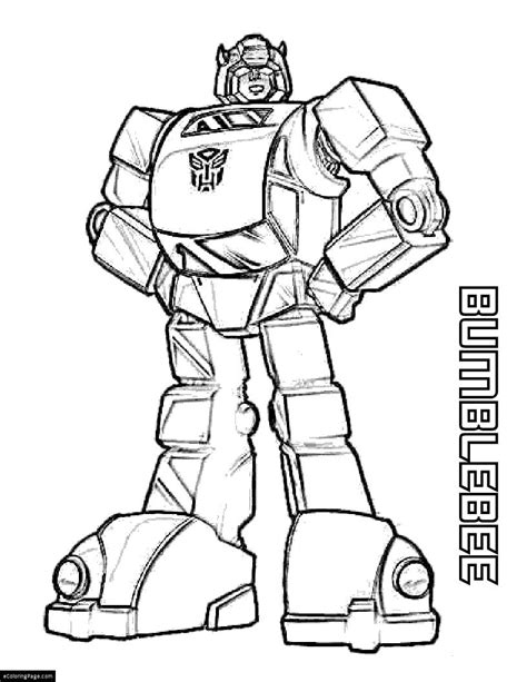yellow transformer bumblebee coloring page printable for