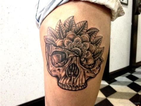 skull thigh tattoo mandala tattoos designs pictures page 3