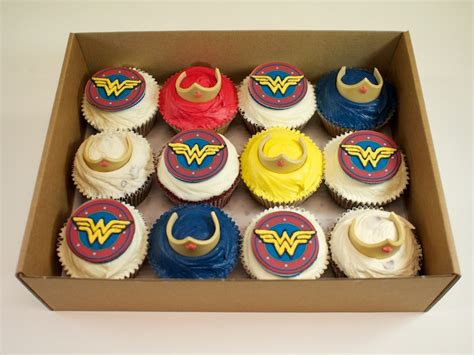 Valentines Decoration Ideas Wonder Woman Cupcakes Crumbs Amp Doilies
