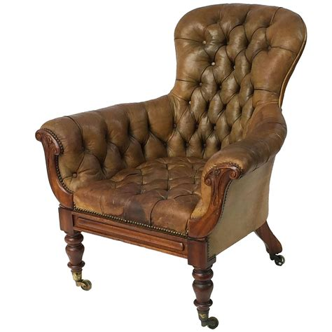 Tufted Wingback Chair by Wingback Chair Of Tufted Leather From The George