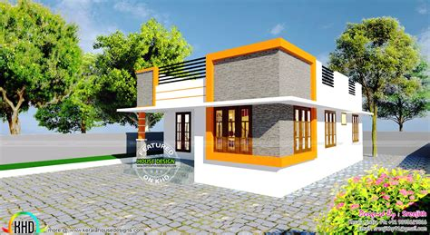 770 sq ft small budget home kerala home design and floor