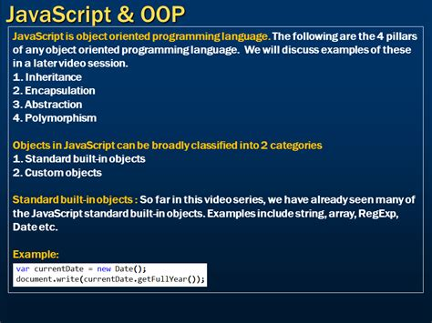 tutorial javascript oop sql server net and c video tutorial javascript and