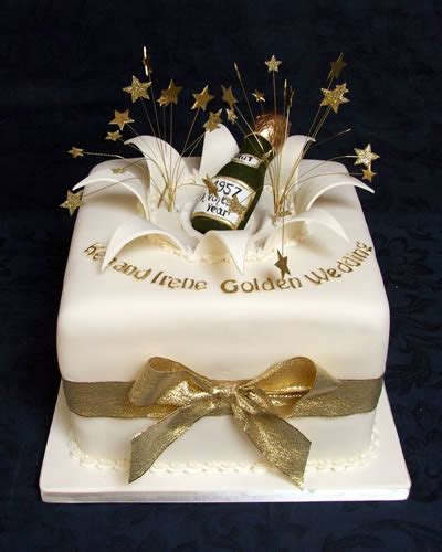 Golden Wedding Cakes by 50th Anniversary Cakes Square Www Pixshark Images