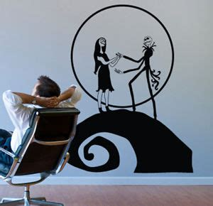 nightmare before christmas jack sally wall decor decal ebay