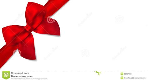 gift certificate with gift red bow stock photography