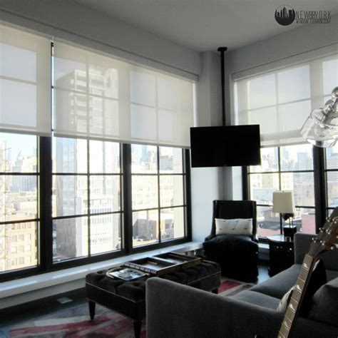 Bedroom Modern Window Treatments Bedroom Automated Shades Modern Home Theater New