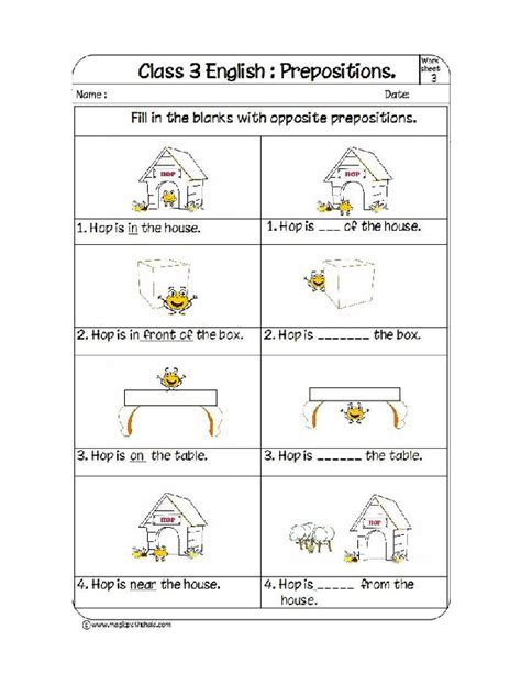 fill opposite prepositions