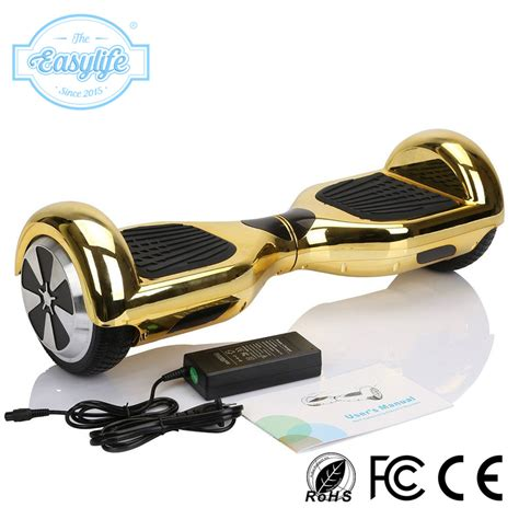 Smart Balance Warna Gold Free Tas gold plating hoverboard 6 5 inch self balancing scooter lithium battery electric skate board