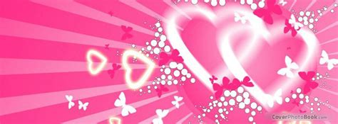stylish heart facebook timeline cover heart love butterflies facebook cover love