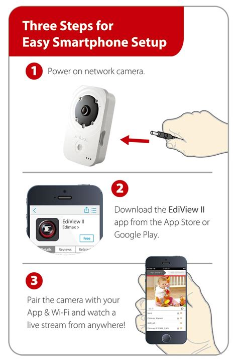 Edimax Ic 3140w Hd Wireless Day Network edimax network cameras indoor fixed hd wireless day