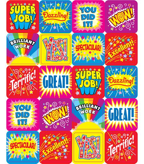 printable motivational stickers for students positive words motivational stickers grade pk 5 carson