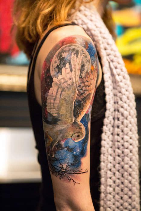 flower tattoo new york peonies and galaxy owl tattoo