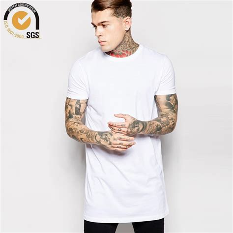 Kaos Skate Longline mens 100 cotton t shirt sleeve blank t shirt