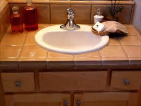 Bathroom Tile Countertop Ideas by Bathroom Counter Top Ideas For Your Bathroom Remodel