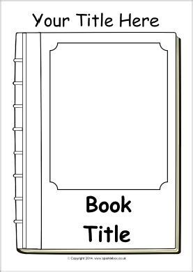 Editable Book Cover Templates Black And White Sb10422 Sparklebox Lukeminen Pinterest Book Template For Pages