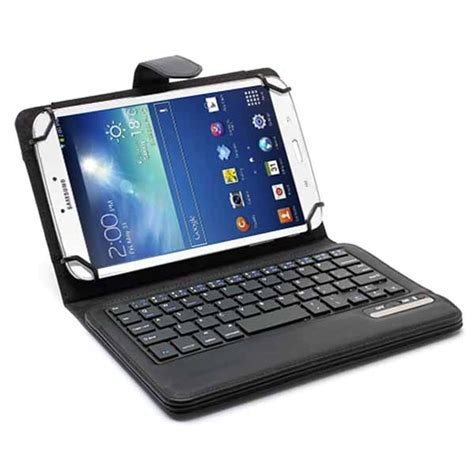Casing Keyboard Tablet universal tablet bluetooth keyboard leather 7 8 black
