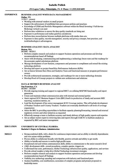 Cognos Business Analyst Cover Letter by Cognos Business Analyst Sle Resume Beverage Manager