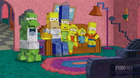 simpsons game of thrones couch gag the simpsons pays tribute to minecraft with inevitable