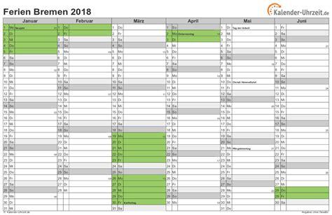Kalender 2018 Zum Ausdrucken Bremen Ferien Bremen 2018 Ferienkalender Zum Ausdrucken