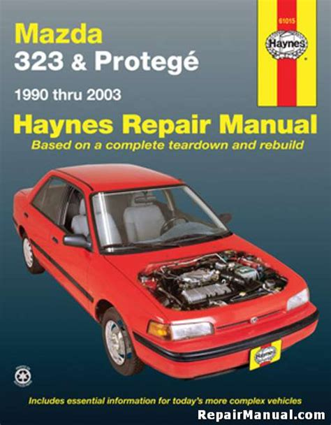 car repair manuals online pdf 1992 mazda 323 engine control haynes mazda 323 protege 1990 2003 auto repair manual