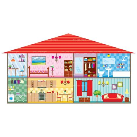 art for house different rooms in a house clipart 55