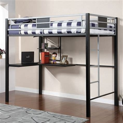 size metal loft bed with desk ideas babytimeexpo