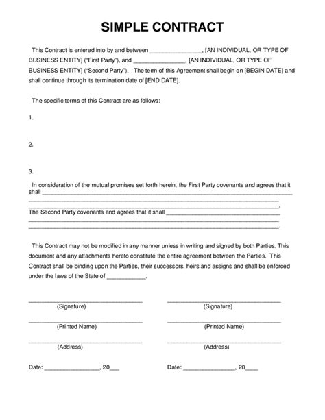 simple business loan agreement template simple business contract business template for excel pdf