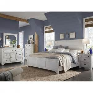 lane bedroom furniture magnussen coventry lane panel bedroom set in white