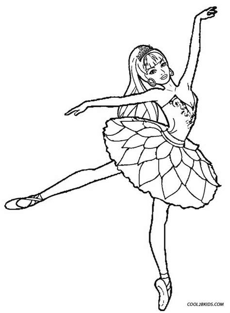 Free A Ballet Dancer Coloring Pages Ballerina Colouring Page