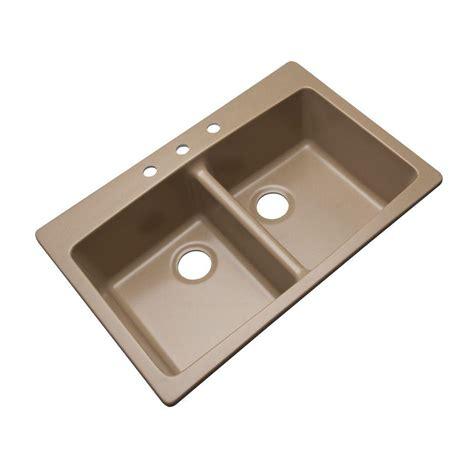 Kitchen Sink Composite Mont Blanc Waterbrook Dual Mount Composite Granite 33 In 4 Bowl Kitchen Sink In