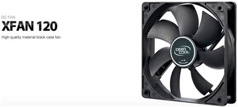 Deepcool Dc Fan Xfan120 deepcool xfan120 black dc fan asianic distributors
