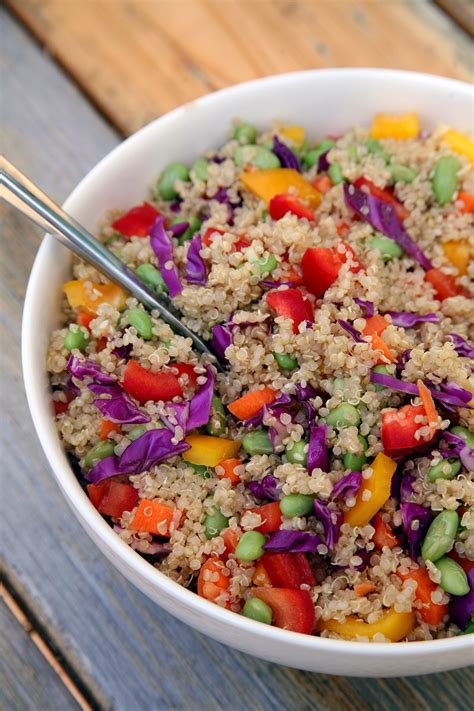 quinoa salad recipes sesame ginger quinoa salad vegan popsugar fitness